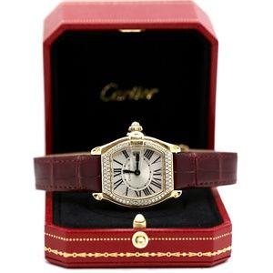 Cartier Roadster 18k Gold & Diamonds Watch